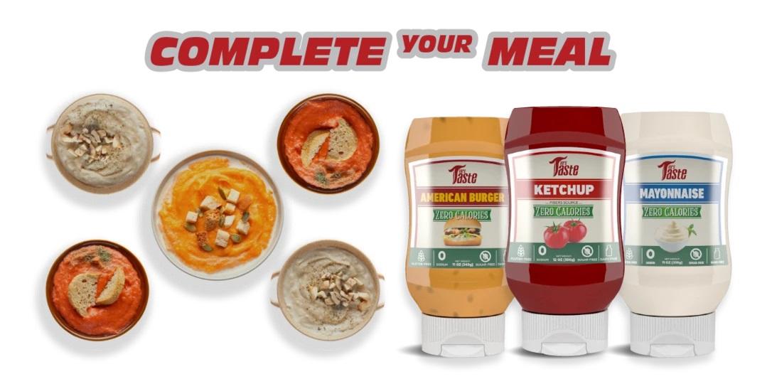 Przykładowy zestaw sosów od Mrs. Taste