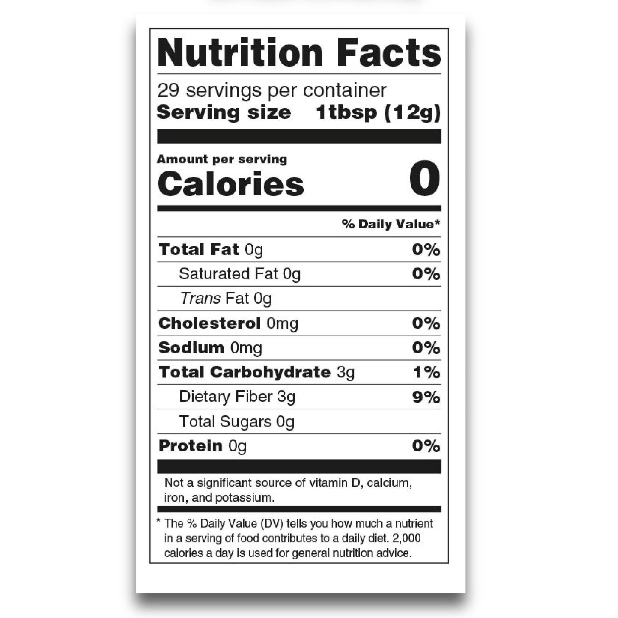 Tabela odżywcza produktu Ketchup od Mrs Taste