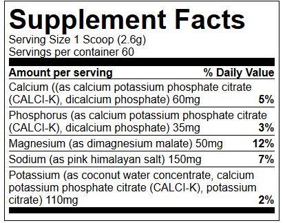 Skład produktu Electrolyte - Primeval Labs
