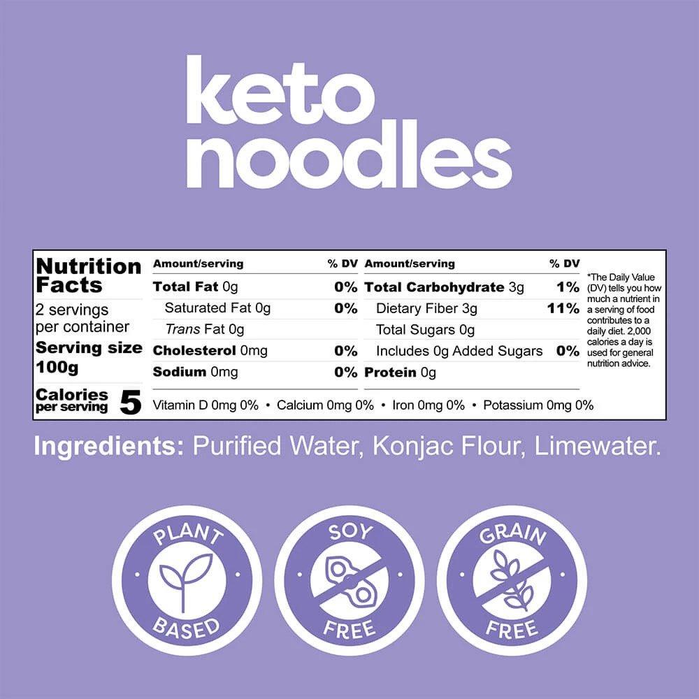 Skład produktu Keto Noodles
